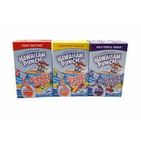 Hawaiian Punch Singles To Go Fruit Juicy Red, Lemon Berry Squeeze, Wild Purple Smash Flavor Low Calorie Drink Mix – 6pk