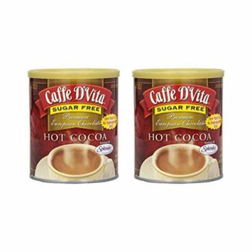 Caffe D'Vita Sugar Free Hot Cocoa, 10 Ounce Can (Pack of 2)