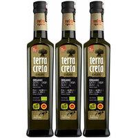 As Seen On QVC - Terra Creta Estate Organic, Non-GMO, Protected Designation of Origin Extra Virgin Olive Oil 500 ml - 3 Pack