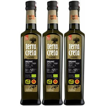 As Seen On QVC - Terra Creta Estate Organic, Non-GMO, Protected Designation of Origin Extra Virgin Olive Oil 500 ml - 3 Pack