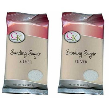 CK Products Sanding Sugar - 1 Pound (Pack of 2) (Silver)