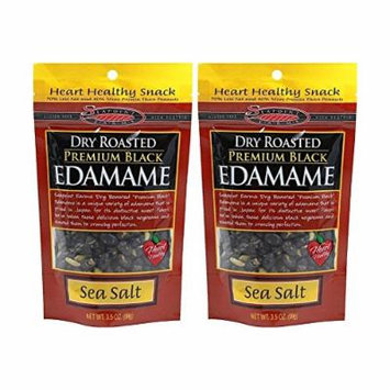 Seapoint Farms Black Sea Salt Dry Roasted Edamame-3.5 oz Bag (Pack of 2)