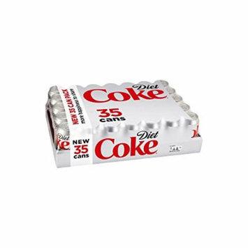 Diet Coca Cola Coke Soda, 12 oz (35 Cans)