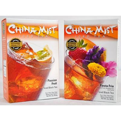 China Mist Tropical 2-Pack Bundle - Including Passion Fruit & Fiesta Fria Black Iced Tea