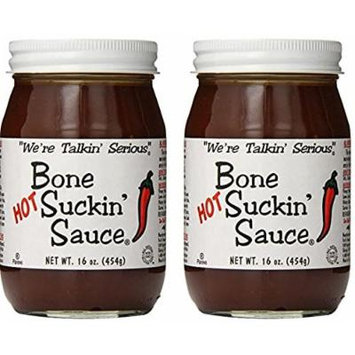 Bone Suckin' Fords Gourmet Foods Hot BBQ Sauce, 16 Ounce Pack of 2