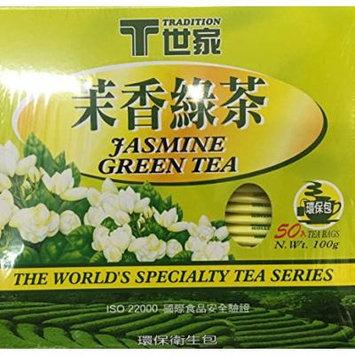 100gr Tradition Jasmine Green Tea, 50 Tea Bags (Pack of 2)