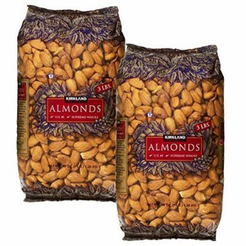 Kirkland Signature Supreme Whole Almonds, 3 Pound (Pack of 2)