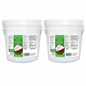 Tresomega Nutrition Organic Coconut Oil, Virgin and Refined, 128 Ounce (Pack of 2)