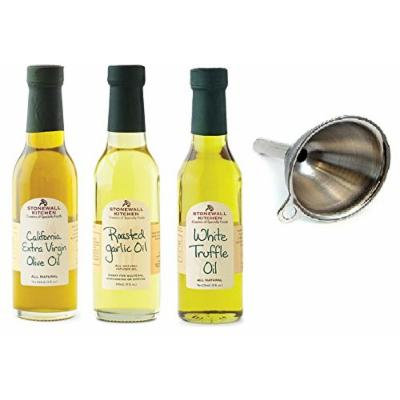 Stonewall Kitchen Oil Collection With Funnel 4 Piece Set