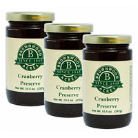 Cranberry Preserve - 3 PACK - Shipping Included