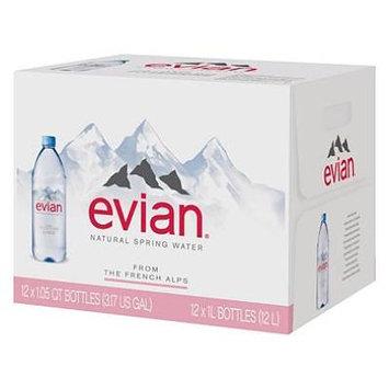 Evian Natural Spring Water (1L, 12 pk.) (pack of 6)