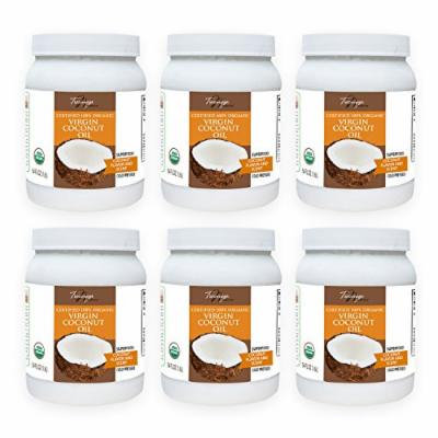 Tresomega Nutrition Organic Virgin Coconut Oil, 54 Ounce (Pack of 6)