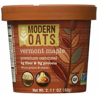 Modern Oats All Natural Oatmeal Cups - Vermont Maple , Gluten Free, Non-GMO, Whole Grain, Vegan, and Kosher, No Known Allergens 2.11 oz., pack of 12