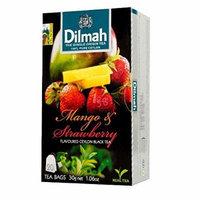 Dilmah, Tea, Single Origin Pure Ceylon Tea (Mango & Strawberry , 20 Tea Bags (Pack of 3))
