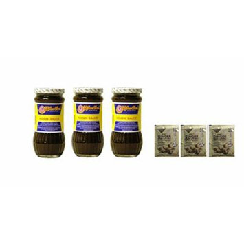 Koon Chun Hoisin Sauce, 15-Ounce Glass Jars (Pack of 3) Plus a Free Gift Instant Ginger Honey Crystals