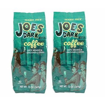 Trader Joe's Dark Coffee Ground 13 oz. (Pack of 2)