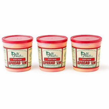 Wisconsin Cheese Spread - Port Wine (3 Pack of 15oz. Each Containers)