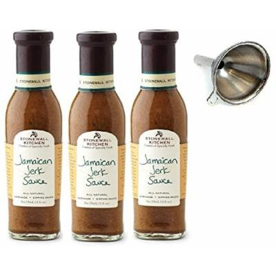 Stonewall Kitchen Jamaican Jerk Sauce, 11 Oz Pack of 3 With Funnel
