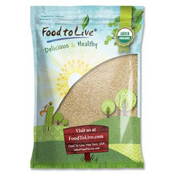 Food To Live Certified Organic Sesame Seeds (Raw, Hulled) (8 Pounds)
