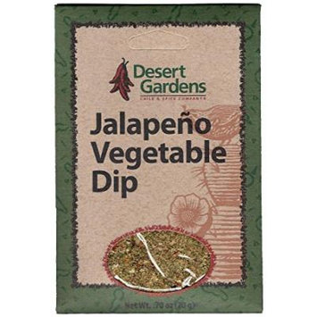 Desert Gardens Jalapeno Vegetable Dip Mix (Pack of 4)