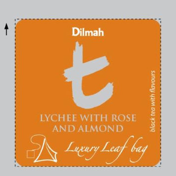 Dilmah , Lychee with Rose & Almond , T-series Biodegradable Luxury leaf Sachets , Food Service Pack , 15% More Tea than Retail Pack , (Pack of 100)