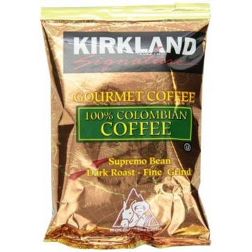 3X 42/1.75 oz :Signature 100% Colombian Coffee, Supremo Bean Dark Roast Fine Grind, 42/1.75 oz Pouches