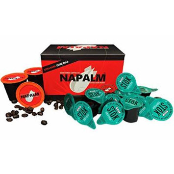 SToK Caffeinated Black Coffee Shots and NAPALM Coffee for Keurig K-Cup Brewers Variety Pack Bundle