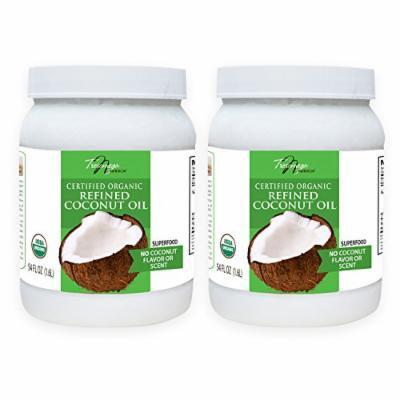 Tresomega Nutrition Organic Refined Coconut Oil, 54 Ounce (Pack of 2)