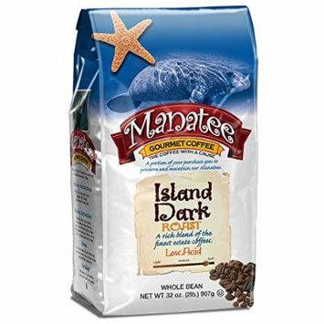 Manatee Whole Bean Coffee, Island Dark Roast, 2 Pound