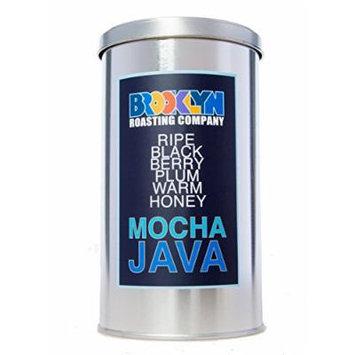 Brooklyn Roasting Company Fair Trade Certified Mocha Java Coffee: 12oz Tin [WHOLE BEAN]