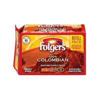 Fresh Taste of Folgers Coffee Refill Pack, 100% Colombian, 10.3 oz Air Sealed Pack (2 pk)