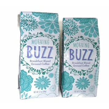 Morning Buzz Breakfast Blend Ground Coffee 12 oz. bags (2)