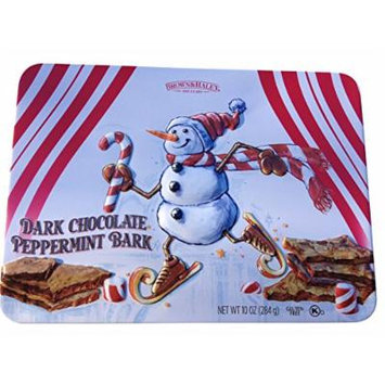 Roca Thins Dark Chocolate Peppermint Bark 10 Oz Snowman Gift Tin