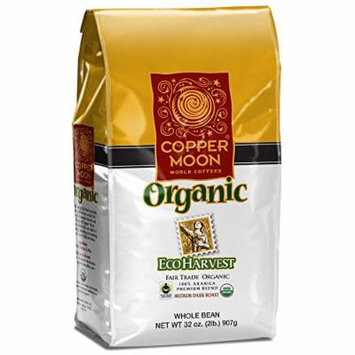 Copper Moon Fair Trade Organic Whole Bean Coffee, Eco Harvest, 2 Pound
