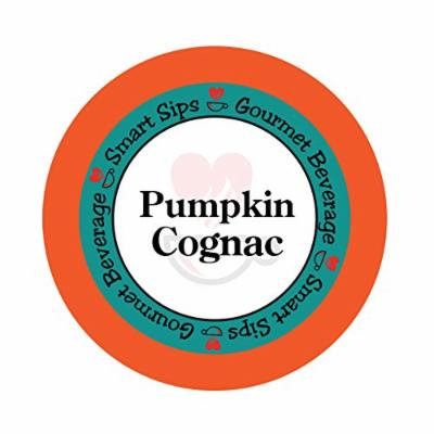 Smart Sips, Pumpkin Cognac Gourmet Coffee, 24 Count, Single Serve Cups Compatible With All Keurig K-cup Brewers