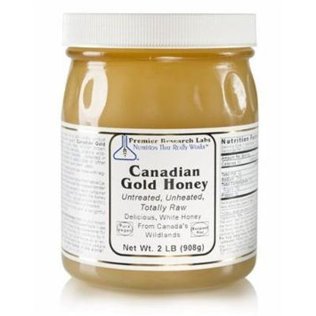 Premier Research Labs Canadian Gold Raw Honey Unpasteurized 2 Lbs / Pounds