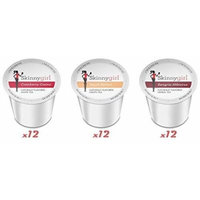Skinnygirl Naturally Flavored White and Green Tea 3 Flavor Variety Bundle, 12 Single Serve Cups Ea. (36 Total Cups)