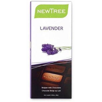 NEWTREE 20005 2.82 oz. Organic Lavender Milk Chocolate Bar-Pack of 4