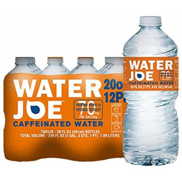 Water Joe , #1 Premium Caffeinated Water , 20 Oz, 12-Pack, 70mg Caffeine Enhancer , Sugar Free Substitute to Coffee, Soda, Energy Drinks and Avitae