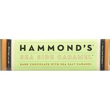 Hammonds Gourmet Chocolate Bar – Kosher – 6 Pack – 2.25 oz each (Seaside Caramel Dark)