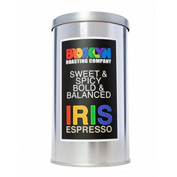 Brooklyn Roasting Company Fair Trade Certified Iris Espresso Coffee: 12oz Tin [WHOLE BEAN]