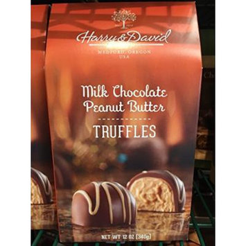 Harry and David, Truffles, Milk Chocolate Peanut Butter, 12 Oz.