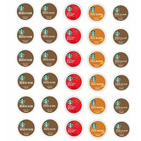 30 Count - Variety Pack of Starbucks Medium Roast Coffee K-Cups for All Keurig K Cup Brewers - Breakfast, House, Pike Place, Fall and Holiday Blend (5 flavors, 6 K Cups each)