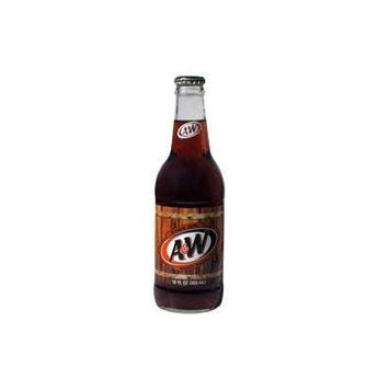 A&W Root Beer Glass Soda, 12 oz (24 Bottles)