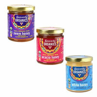 Heavenly Organics 100% USDA Certified Raw Honey Certified Kosher,12oz, Single Variety Pack