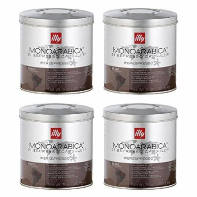 Illy iperEspresso MonoArabica Brazil Capsules full-bodied Coffee, 21-Count Capsules (Pack of 4)