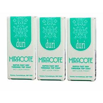 duri Miracote Super Fast Dry Through Top Coat .61 fl. oz (3 pack)