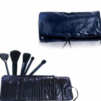 FASH Black Friday Sale! Professional Makeup Brush Set 24 Pcs with Black Faux Leather Rollup Case