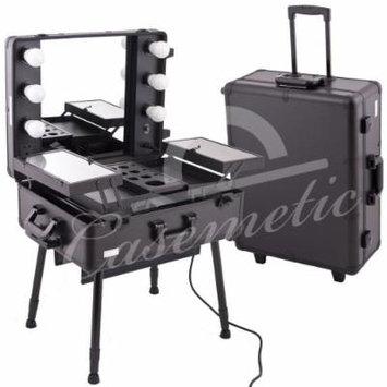 BLACK STUDIO MAKEUP CASE w/LIGHT - C6010