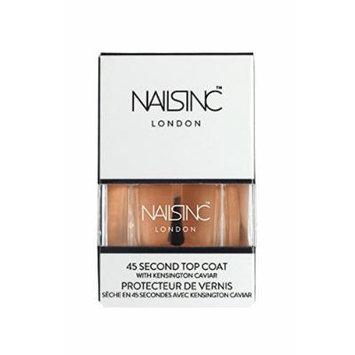 Nails Inc 45 Second Top Coat with Kensington Caviar - .47 oz